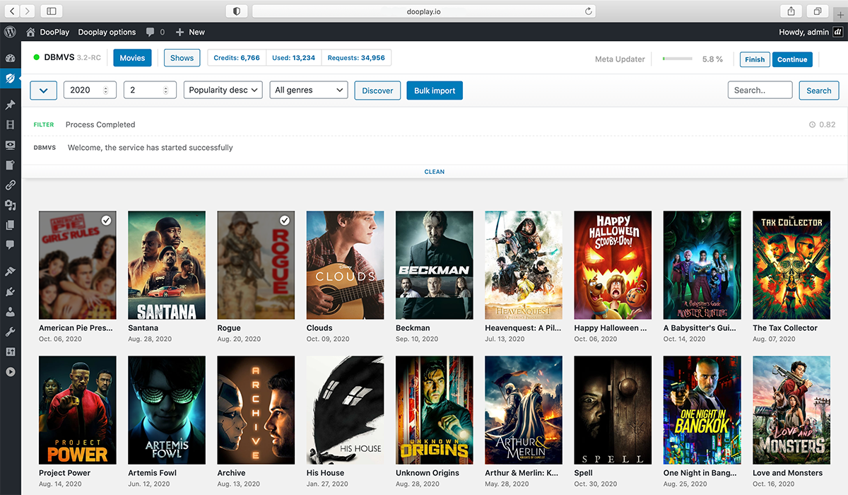 Dbmovies Plugin WordPress